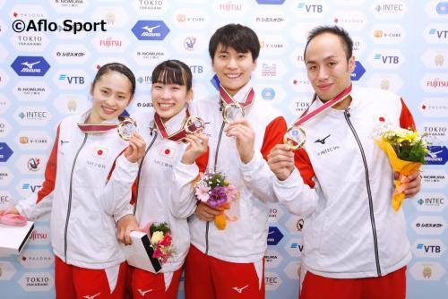 2019 トランポリン 世界選手権 シンクロ 男女共に日本が優勝