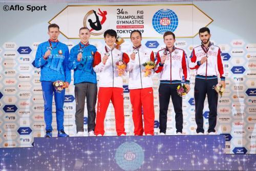 2019 トランポリン 世界選手権 男子 シンクロ 表彰式 日本が優勝