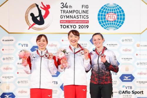 2019 トランポリン 世界選手権 女子 個人 表彰式