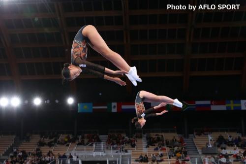 2019 トランポリン 世界年齢別競技大会 女子 シンクロ 11-12歳 決勝