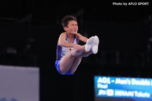 2019 トランポリン 世界年齢別競技大会 男子 ダブルミニ 11-12歳 決勝