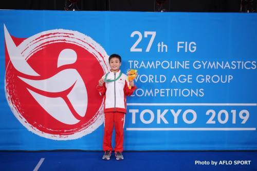 2019 トランポリン 世界年齢別競技大会 男子 ダブルミニ 11-12歳 表彰式