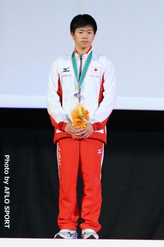 2019 トランポリン 世界年齢別競技大会 男子 個人 15-16歳 表彰式