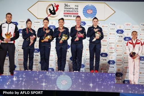 Women's Double Mini Trampoline Team USA