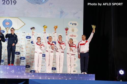 Women's Double Mini Trampoline Team RUS
