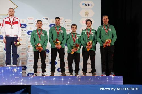 Men's Double Mini Trampoline Team POR