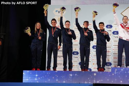 Men's Double Mini Trampoline Team USA